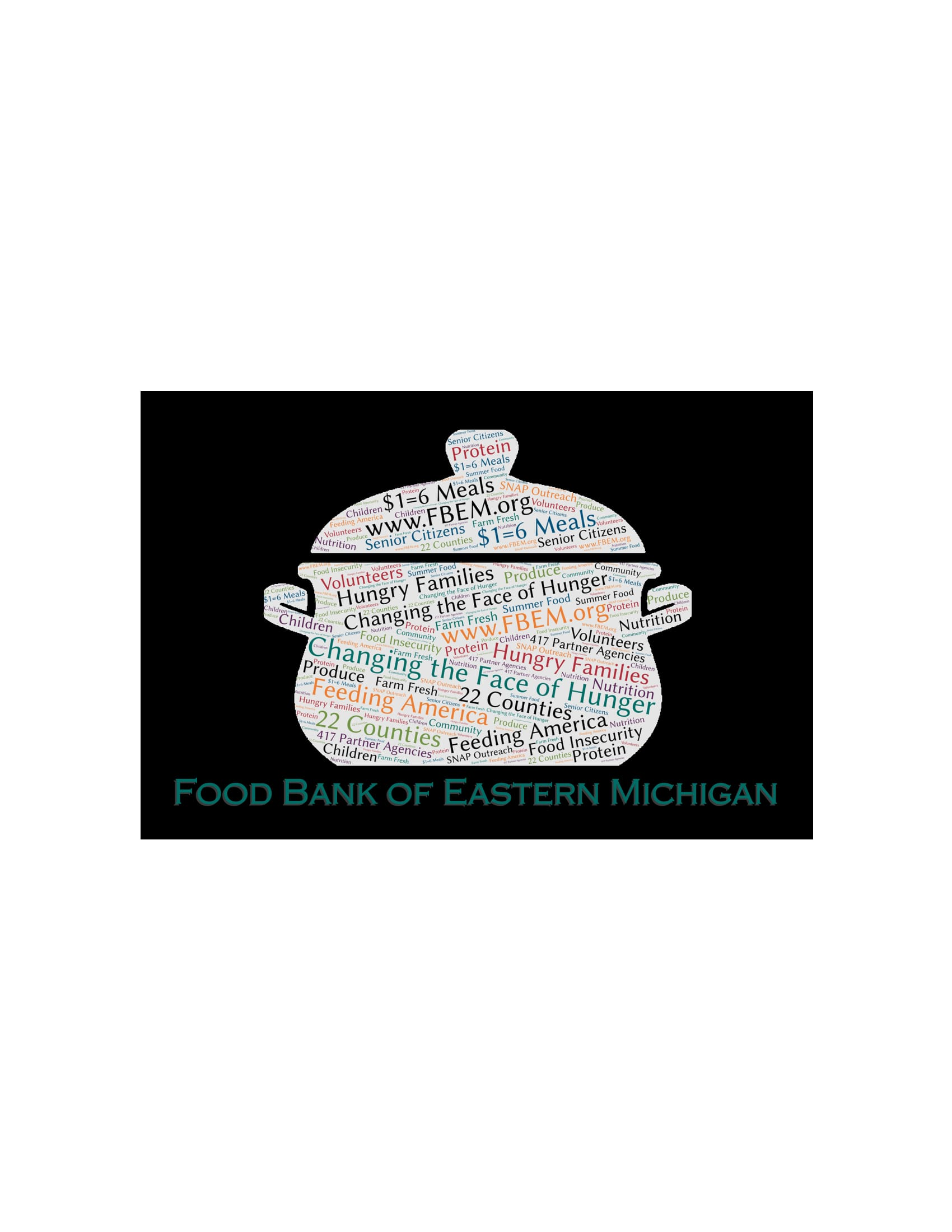 Food Bank of Eastern Michigan Donor Postcard -