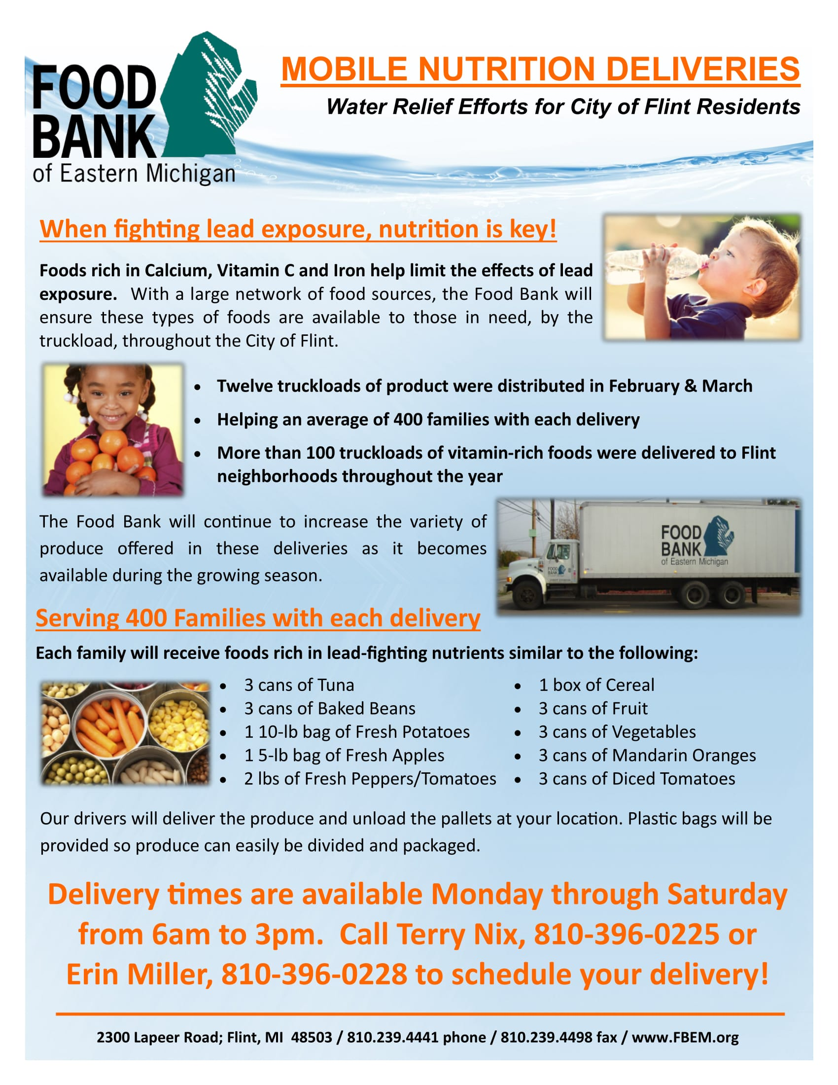 Food Bank of Eastern Michigan Mobile Nutrition Flier -