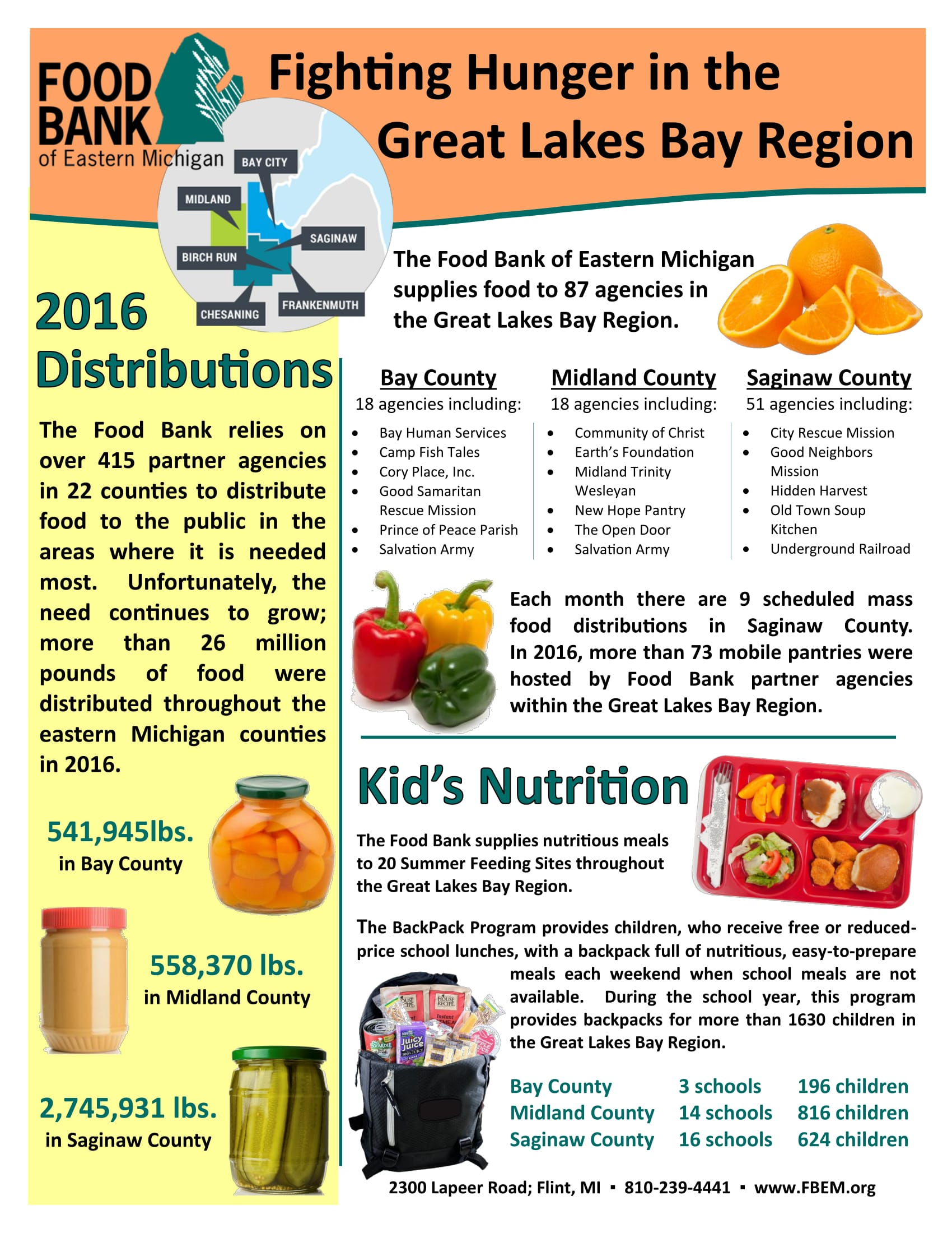 Food Bank of Eastern Michigan Regional Flier -