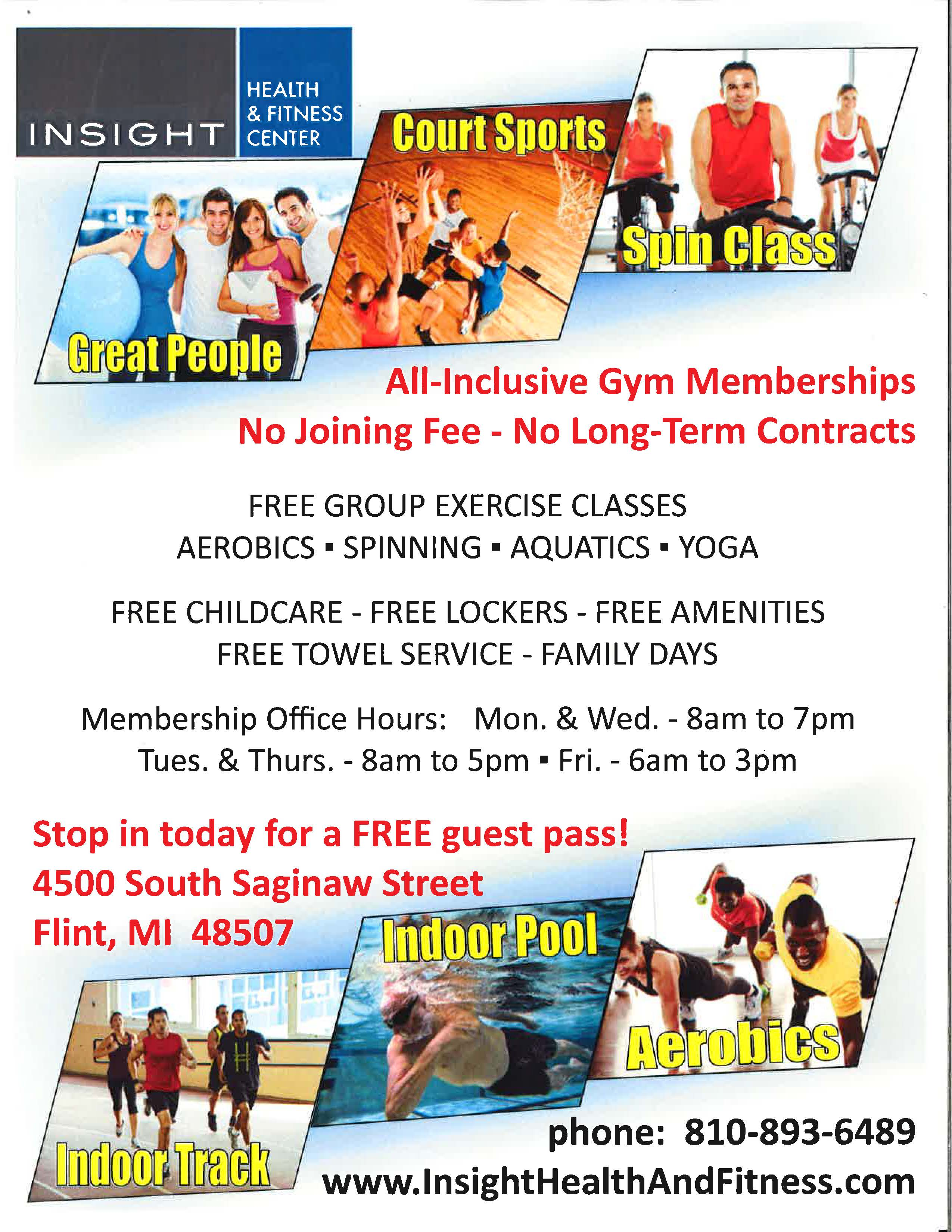 Insight Health & Fitness Center Advertisement -